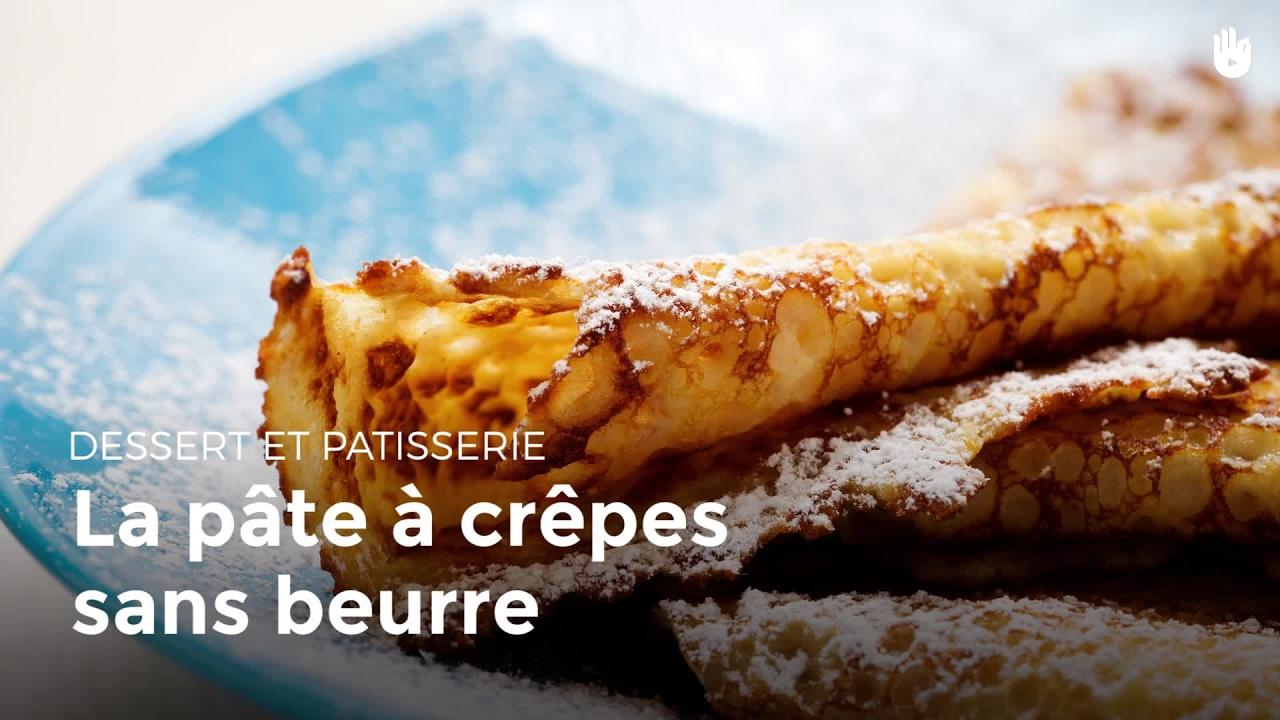 La Pate A Crepes Sans Beurre Recettes De Crepes Youtube