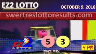 PCSO LOTTO RESULT OCTOBER 9 2018 Digit Draw