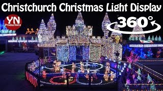 Christchurch Christmas Lightshow 2016 in VR (360 Degree Video)