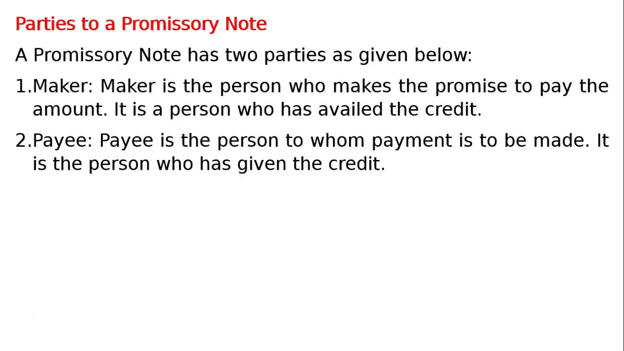 Promissory Note Parties business analysis report example