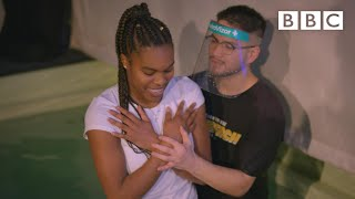 Savannah's Christian baptism after death of her friend - BBC
