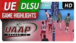 UAAP 78 WV: UE vs. DLSU Game Highlights