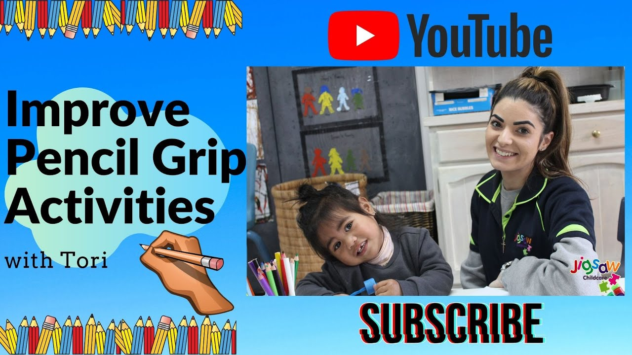 4 Activities To Improve Pencil Grip With Tori | Fine Motor Skills | Jigsaw Childcare Online Learning