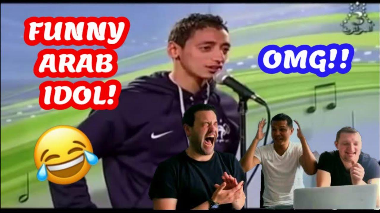 Arab Idol Funny! Reaction Pria lucu Arab Idol bernyanyi