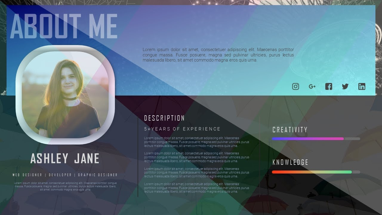 how to design cv curriculum vitae  resume  portfolio