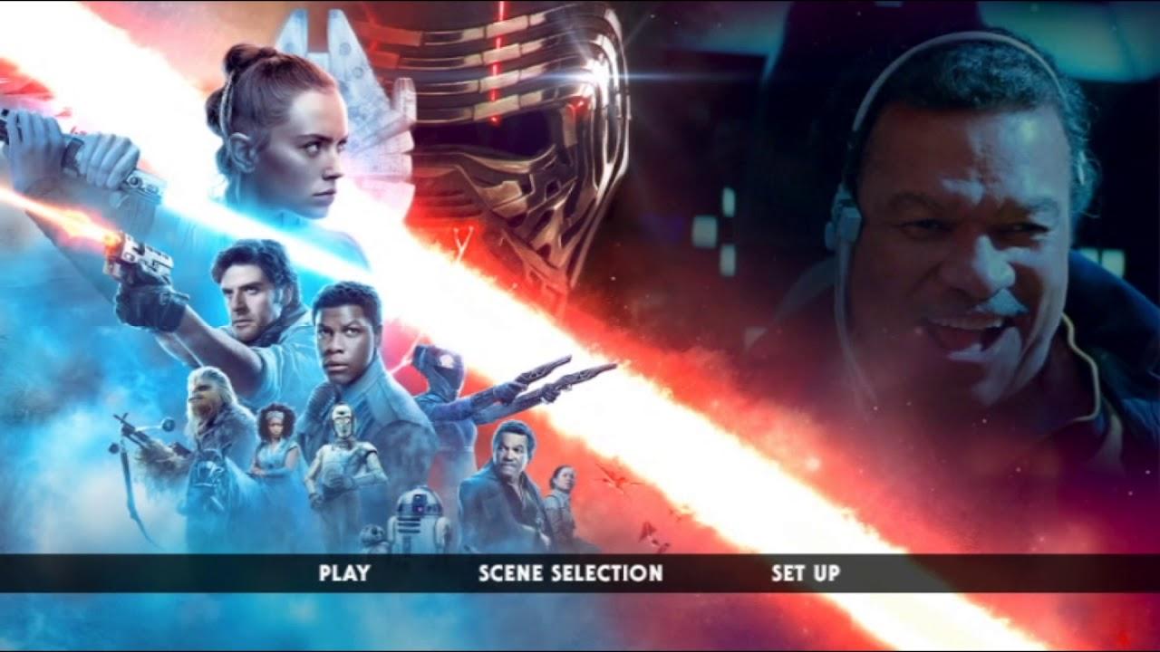 Star Wars The Rise Of Skywalker 2019 Dvd Menu Youtube