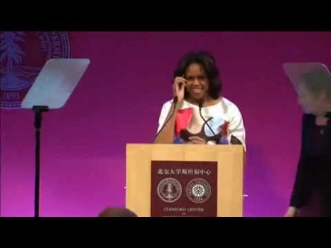 Michelle Obama Delivers Speech At Beijing University