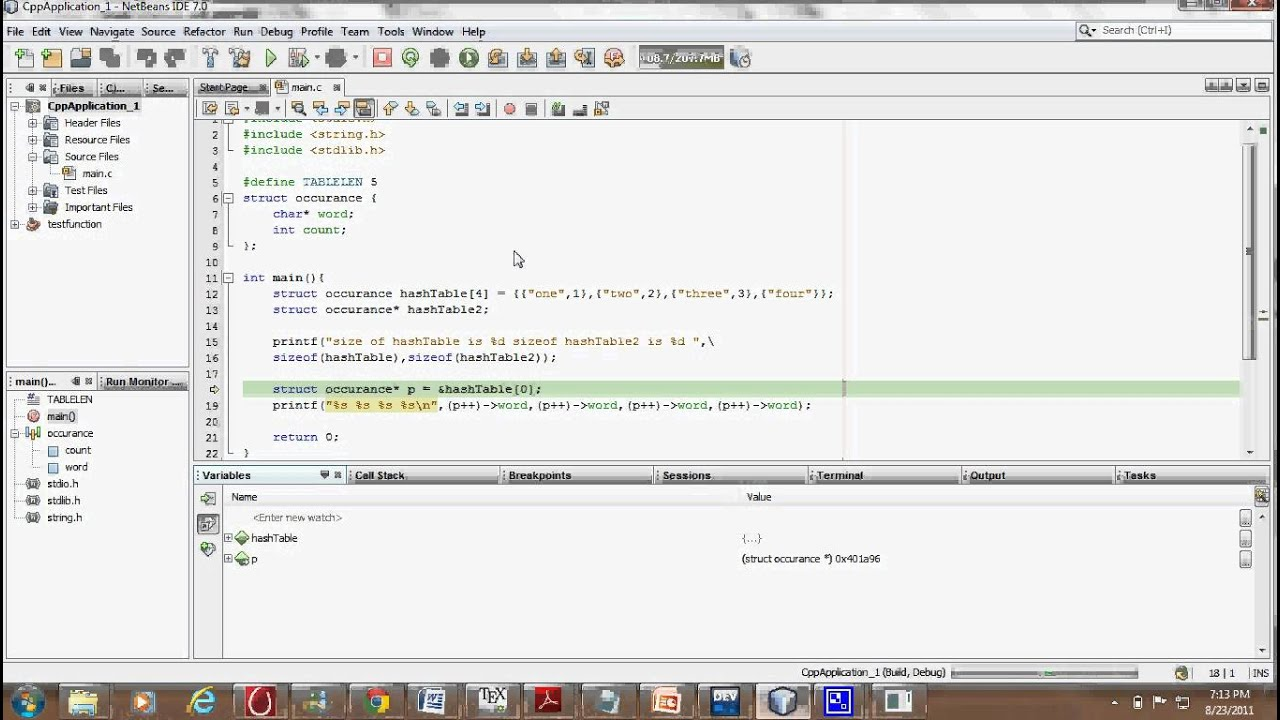 C Programming Tutorial: Structures, Array of Structures and Initialization