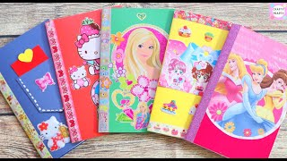 DIY SKETCHBOOKS - No Stitching / DIY Hello Kitty Notebook / How to make Notebook / DIY Notebook