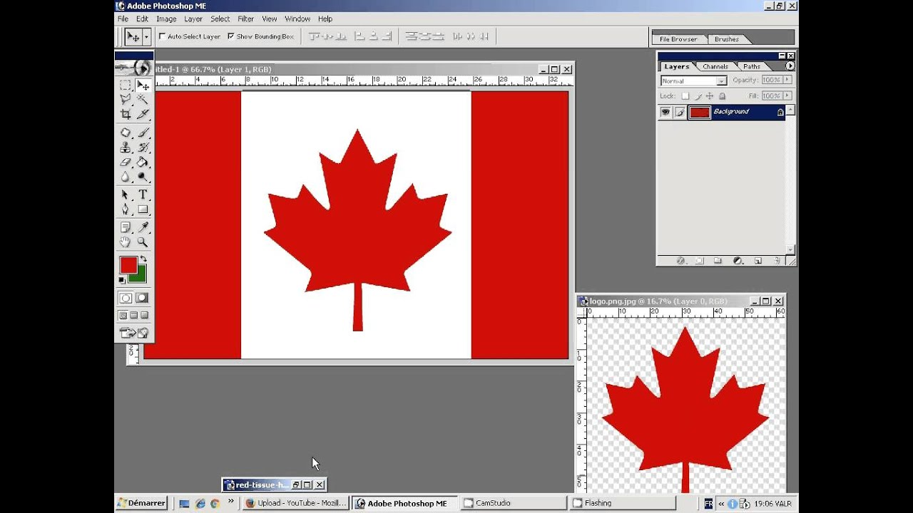 create a 3d flag of canada in photoshop youtube