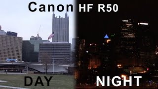 canon vixia hf r50 day night footage 60fps