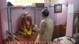 KALI PUJA AT SHIV MANDIR OF AIR FORCE STATION YELAHANKA ,  KARNATAKA , INDIA ON (26 -10 -2011)