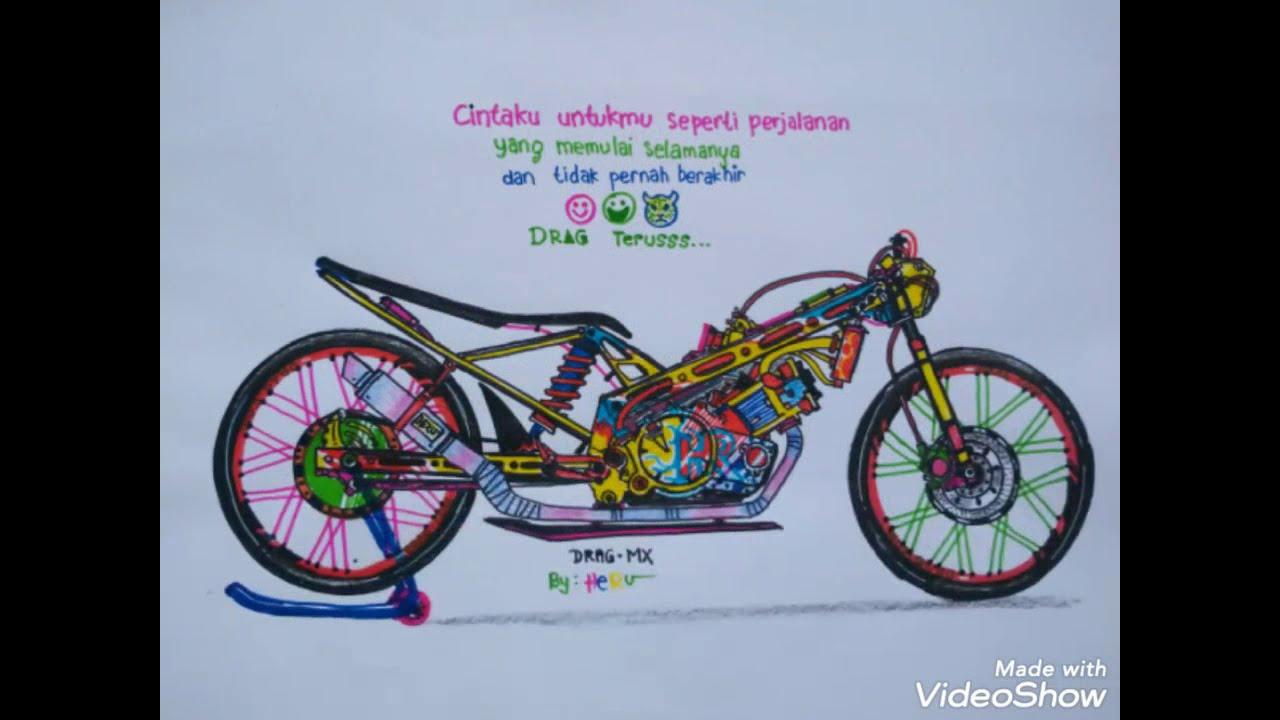 Cara Menggambar Drag Jupiter Mx 350cc Menggambar Motor Drag Drag Cbr Satria Fu By Heru Youtube
