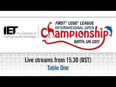 FIRST LEGO League, International Open Championship - Day 1 - Table 1