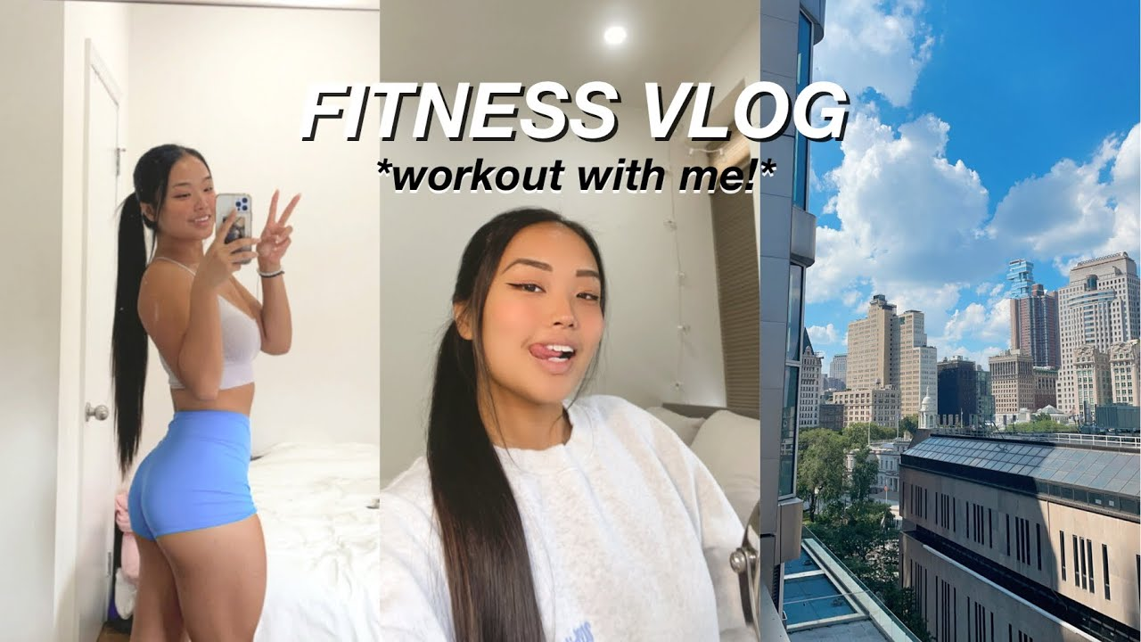 FITNESS VLOG | workout with me, what i eat, & a night out in nyc!