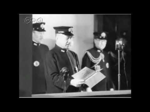 嶋田繁太郎海軍大臣(昭和19年4月1日) - YouTube