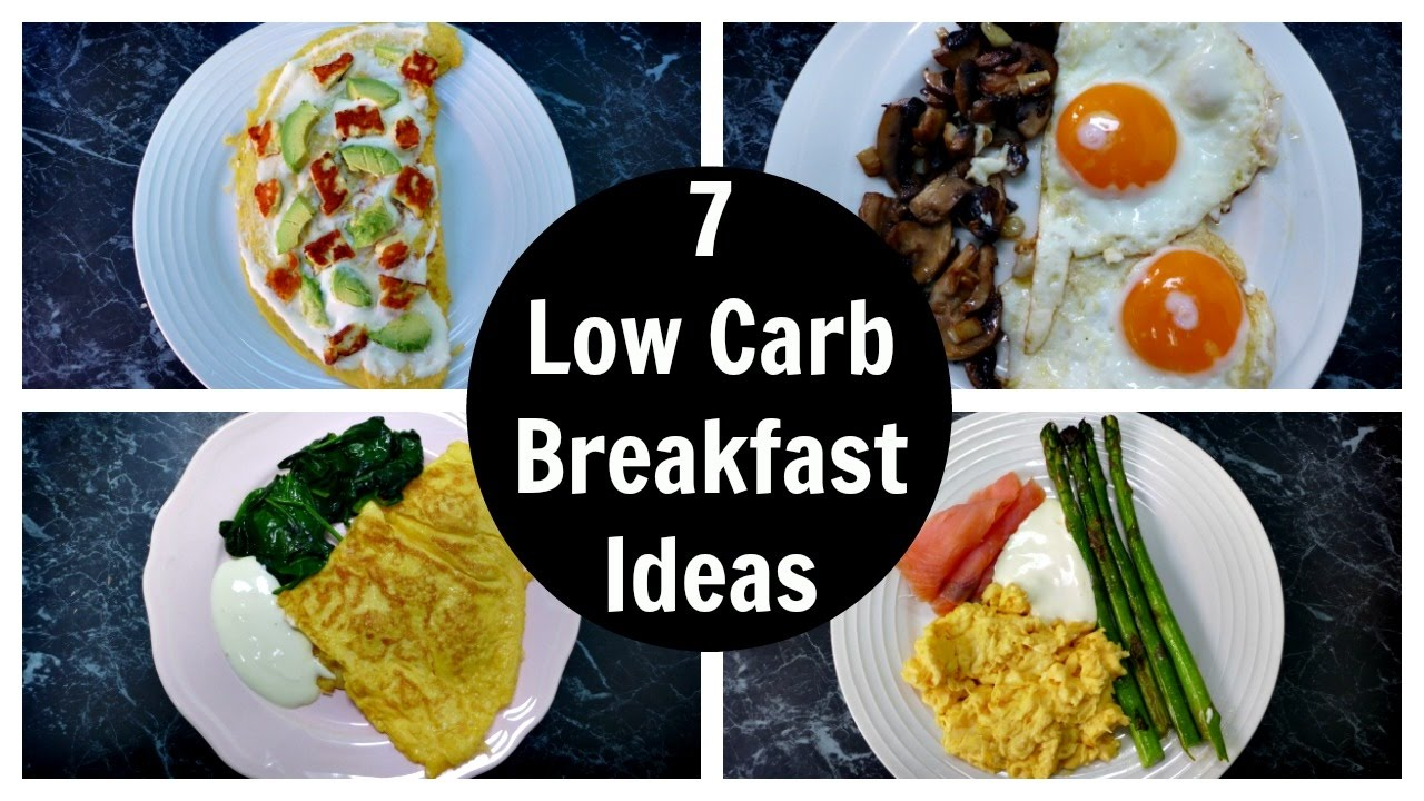 low carb diet breakfast meals
