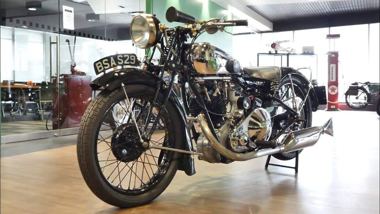 1929 BSA S-29 500cc 'Sloper' Motorcycle -  2020 Shannons Winter Timed Online Auction