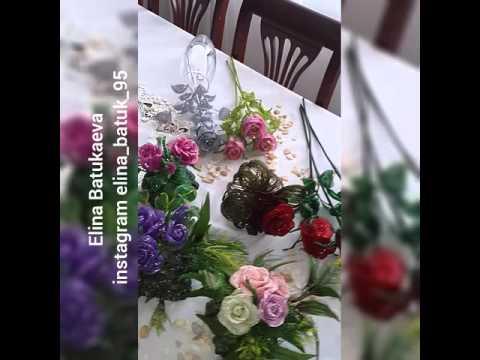 Цветы из проволоки и капрона своими