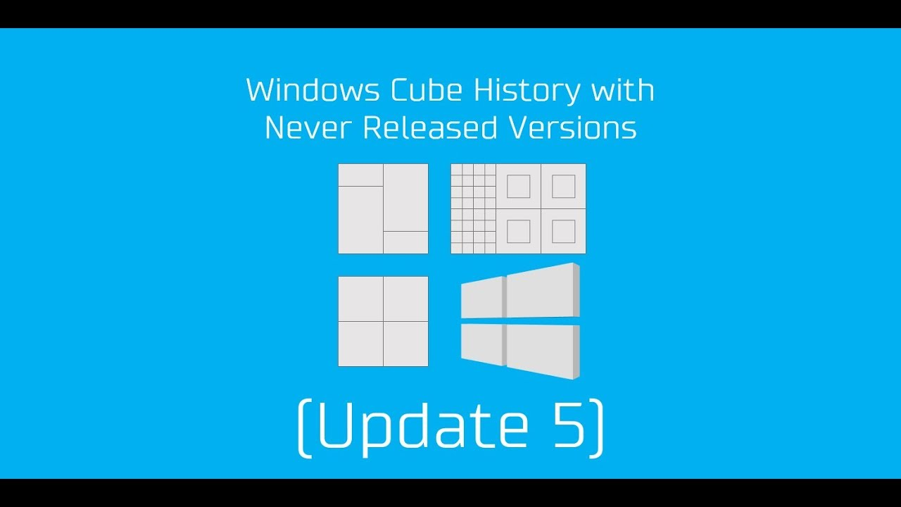 Windows Cube History with Never Released Versions (Update 5)