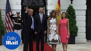 Spain's King Felipe VI and Queen Letizia visit the White House - Daily Mail