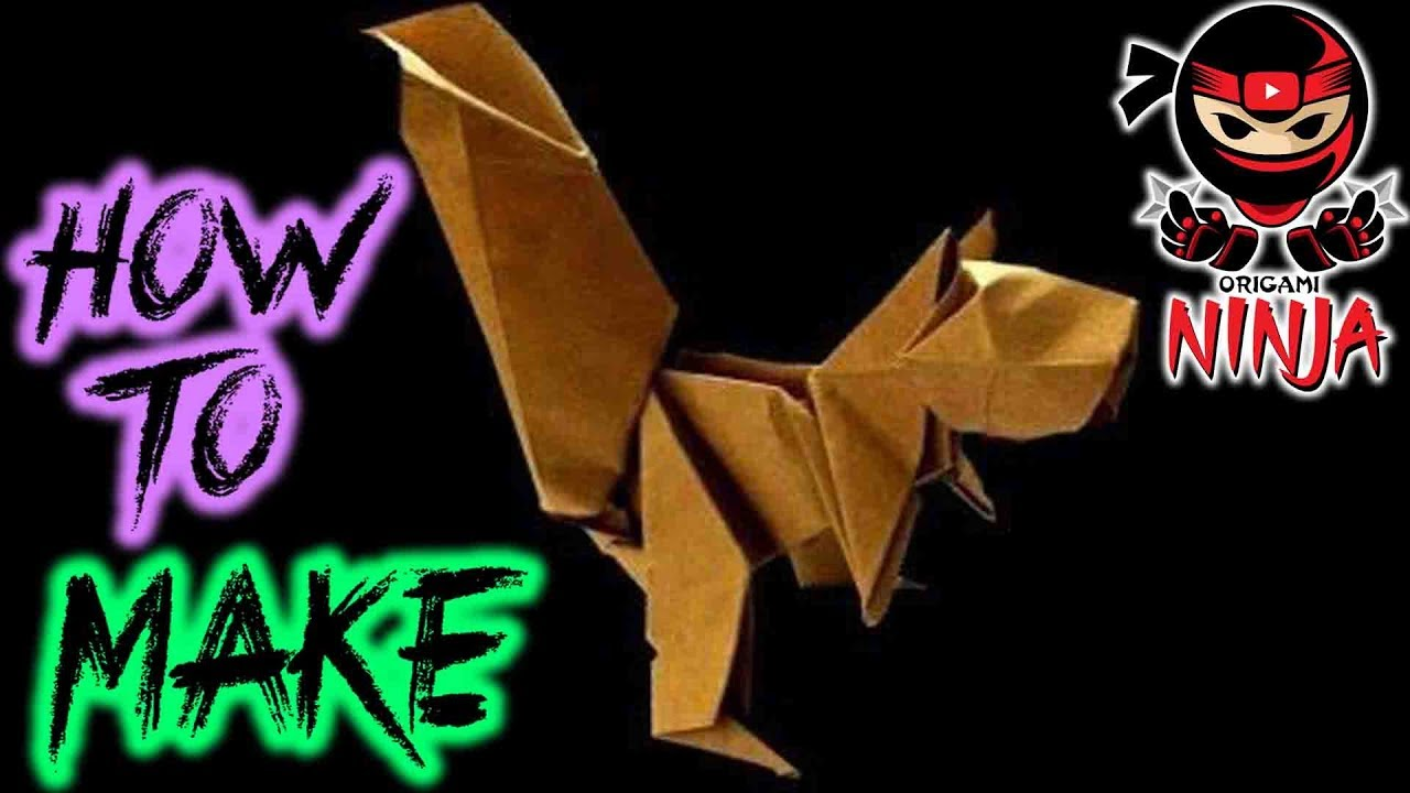 How to make origami squirrel youtube how to make origami squirrel jeuxipadfo Choice Image