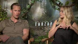 the legend of tarzan interview margot robbie alexander skarsgard