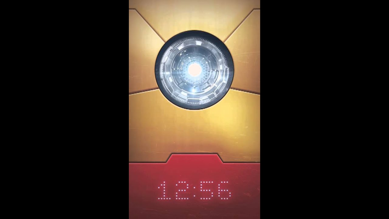 Man Youtube Makeup Gurus: Iron Man Lockscreen