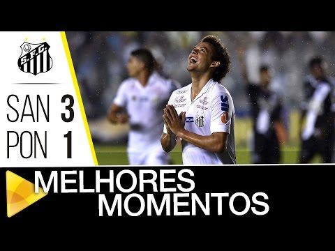 Santos 3 x 1 Ponte Preta | MELHORES MOMENTOS | Brasileirão (16/07/16)