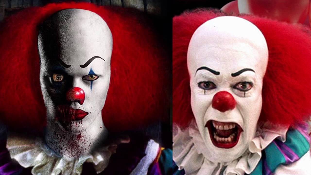 Wallpaper It Clown Bill Skarsgard Horror 2017 Hd: Stephen King's 'It': Bill Skarsgard In Pennywise Makeup