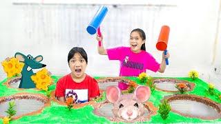 Siêu Nhân Đập Chuột ❤ Làm Trò Chơi Đập Con Chuột Tại Nhà   Trang Vlog