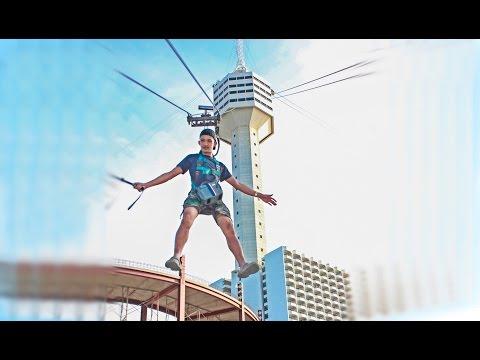 โดดหอคอย ชั้น 56 ที่พัทยา  (TowerJump from 56th floor Pattaya Park) [HD]
