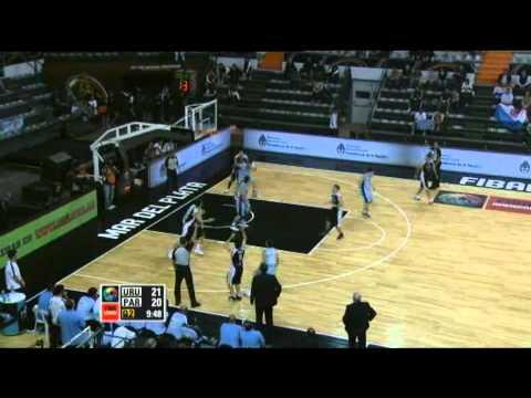Uruguay Vs. Paraguay / 2011 FIBA Americas Championship Round 1