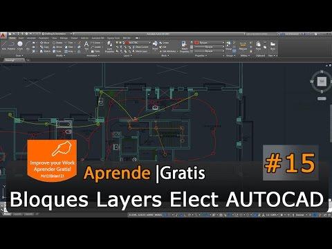 AutoCAD 2015 Tutorial Basico Starter 15 / Electricidad / Paredes / Bloques en HD
