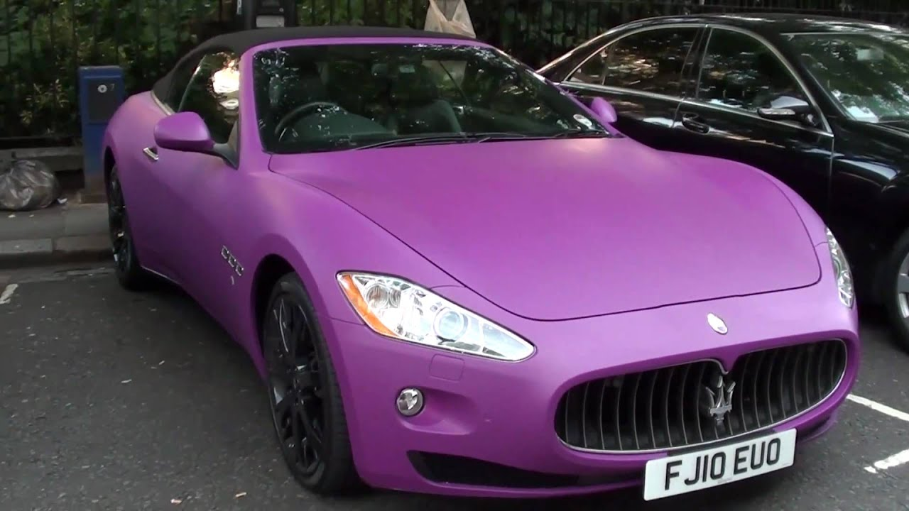 Matte Pink Purple Maserati Grancabrio Youtube