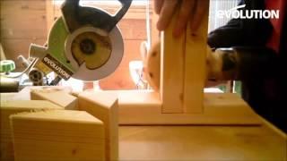 Evolution Fury3 Mitre Saw / Miter Saw: Make a kids balance beam!
