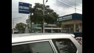 タイ・ピントーン工業団地の入り口風景、日系企業多数