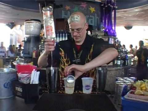 WORLD'S FASTEST (FLAIR) BARTENDER, FLIPPY MORRIS. HARRAH'S. LAS VEGAS, USA