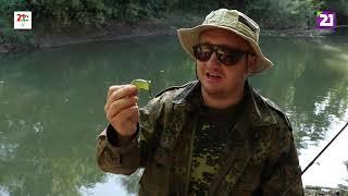 Карпатське рибалля Ловля сома та щуки поблизу міста Чоп на річці Латориця