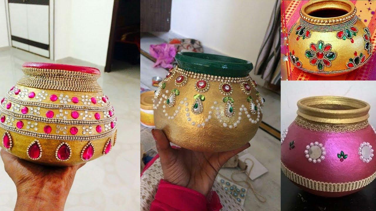 Diy Pot Decoration Ideas For Indian Wedding Pot Decoration For