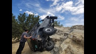 Long Arm Jeep XJ Rock Crawling and Off Roading Rio Puerco NM (2018)