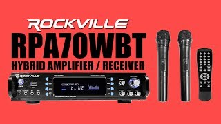 DEMO Rockville RPA70WBT Hybrid Bluetooth Amplifier/Receiver