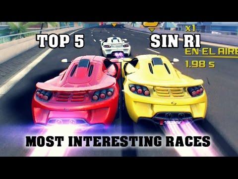Asphalt 8 - TOP 5 Most Interesting races (Multiplayer SIN R1)