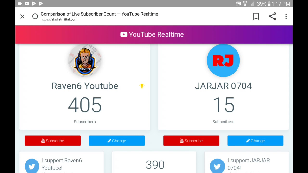 live instagram followers count 1 0 download android apk aptoide Compare Live Subscriber Count