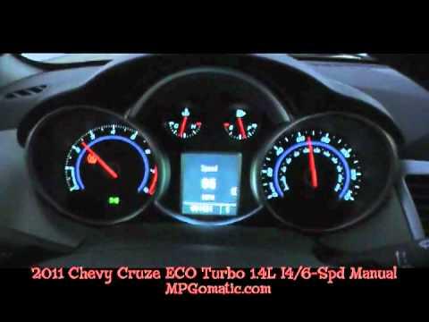 2011 Chevrolet Cruze Eco 0 60 Mph Youtube