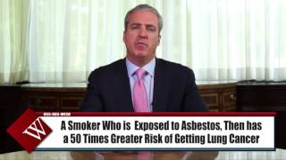 Mesothelioma Lawyer  | Diagnosed With Lung Cancer from Asbestos but Also Smoke