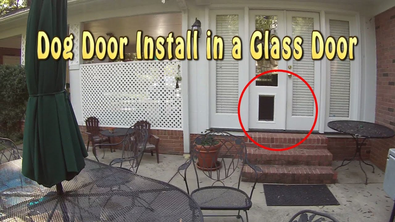 Installing A Dog Door Into Glass French Doors Youtube