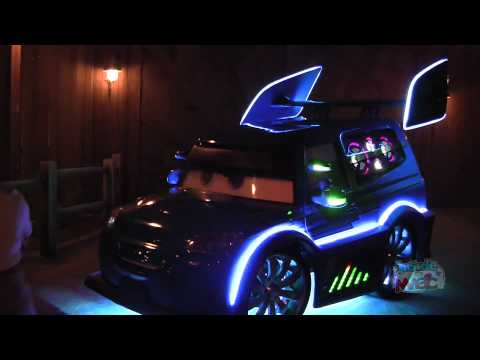 DJ meets, greets, and plays tunes in Cars Land at Disney California Adventure