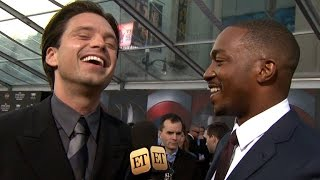 Anthony Mackie Crashes ET Interview, Becomes Correspondent at 'Captain America' Premiere