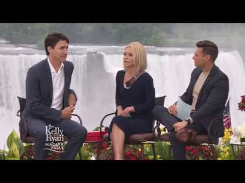 Justin Trudeau Chats With Kelly & Ryan